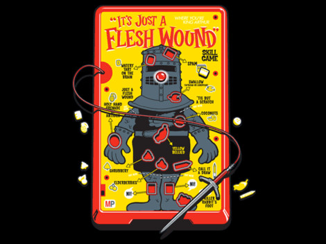 it's just a flesh wound shirt