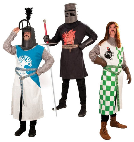 Monty Python costumes and helmets