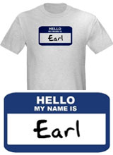 Name Tag Earl t-shirt