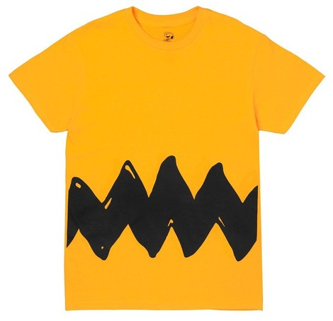 Yellow Charlie Brown Zig Zag tee