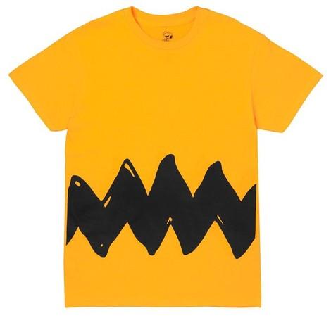 Yellow Charlie Brown Zig Zag tee