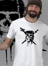 Pirates of the Caribbean Skull and Swords Logo shirt