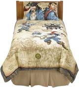 Pirates of the Caribbean bedding, sheets, pillow cases
