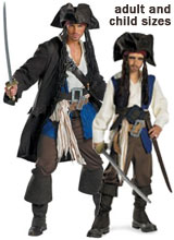 Jack Sparrow Pirates of the Caribbean Costumes