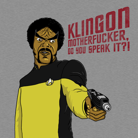 Klingon Jules Winnfield tee