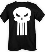 Marvel Punisher skull logo shirts