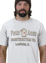 Four Aces Construction tee