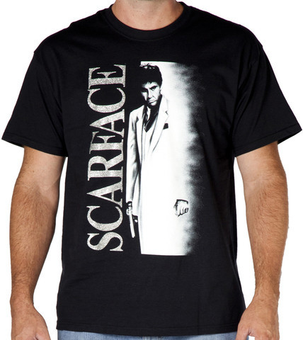 scarface silver logo shirt