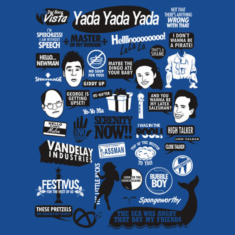 Seinfeld Quotes t-shirts