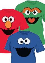 Face Sesame Street tees