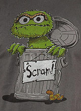 Scram Oscar the Grouch t-shirt