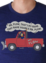 Simpsons Homer Mr. Plow t-shirt
