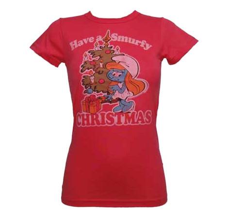 Christmas Smurfette tee