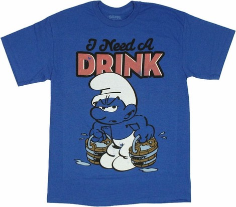 I Need a Drink Smurf shirt