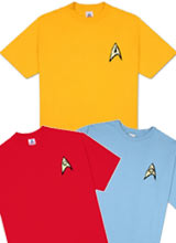 Star Trek Uniform t-shirts