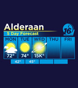 Star Wars Alderaan Forecast shirt