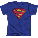 superman distressed logo tee