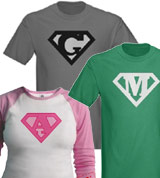 custom superman letter shirts