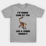 spider monkey talladega nights t-shirts