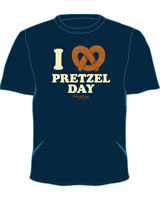 Pretzel Day office t-shirts