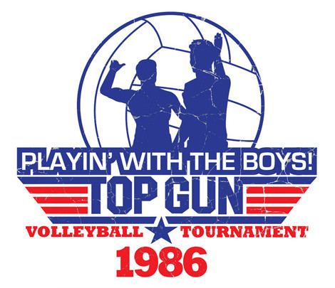 Top Gun Volleyball t-shirtTop Gun Volleyball Shirt
