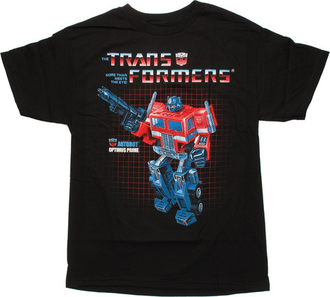 Transformers Optimus Prime Box Art t-shirt