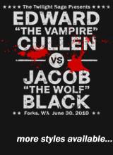 Twilight Edward vs Jacob shirt