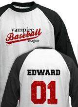 Edward Vampire Baseball jersey