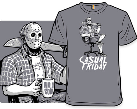 Casual Friday the 13th t-shirts