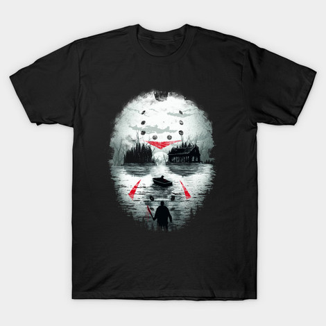 Friday the 13th t-shirt Jason's Mask Collage