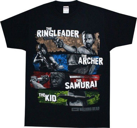Ringleader Archer Samurai The Kid Walking Dead T Shirt