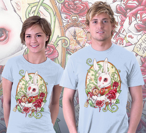 White Rabbit Alice in Wonderland shirt